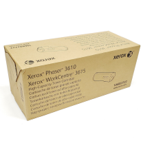 Toner Cartridge, High Capacity (OEM 106R02722, 106R2722) Xerox® Phaser3610 and WC3615