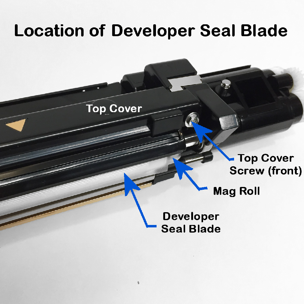 DC250 Developer Seal Blade Location 1
