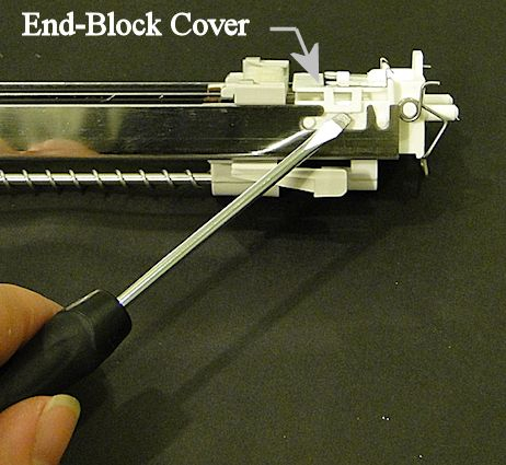 Releasing the Corona End Block Cover