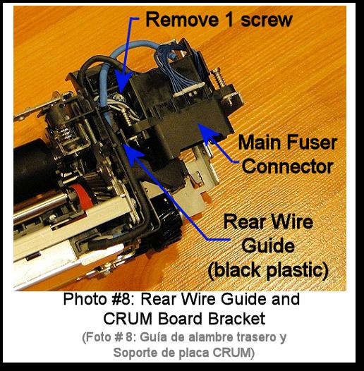 7525 Fuser Rebuild Instructions Photo 8