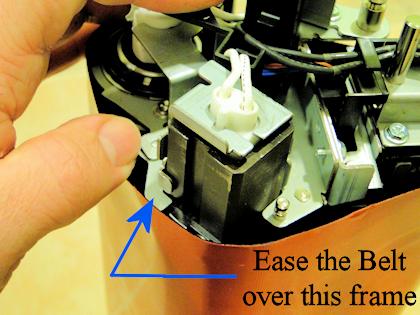 V80 Heat Belt Unit- Slipping the belt off