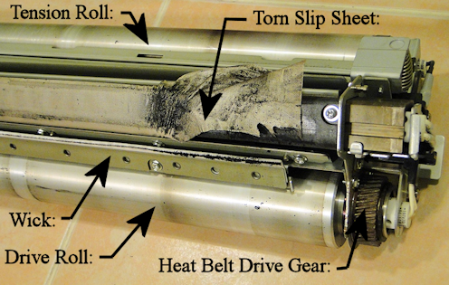 V80 Heat Belt Unit-Good example of a bad slip sheet