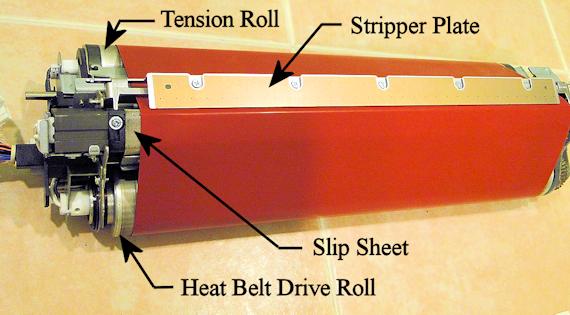 V80 Heat Belt Unit Orientation for Rebuild Instructions